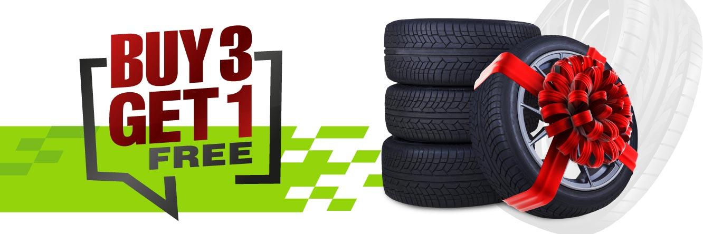 Buy3 Tyres Get 1 Free